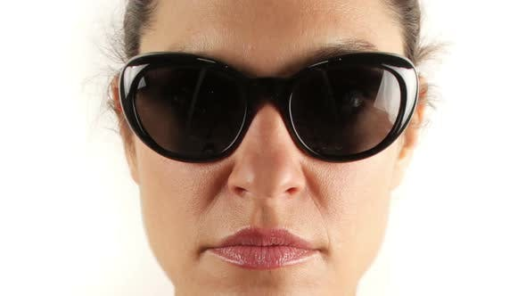Thumbnail for Stopmotion Of A Pretty Woman Wearing Different Retro Sunglasses 3
