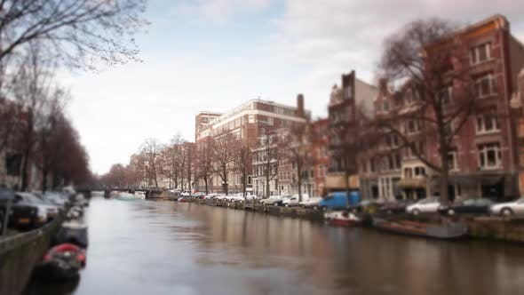 Thumbnail for A Shot Of Canal And Street Scene In Amsterdam 2