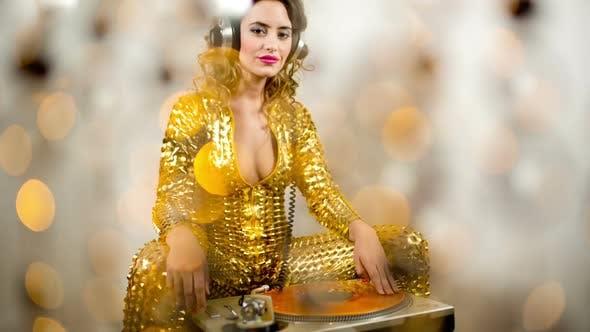 Thumbnail for Gold Catsuit Female Dj 3