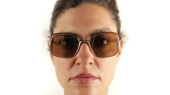Thumbnail for Stopmotion Of A Pretty Woman Wearing Different Retro Sunglasses 9