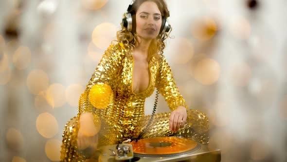 Thumbnail for Gold Catsuit Female Dj 4