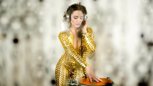 Thumbnail for Gold Catsuit Female Dj 6