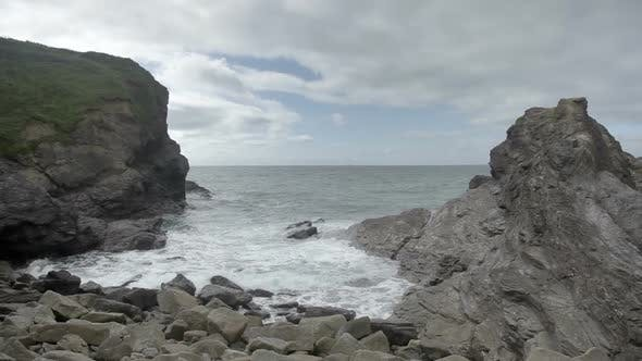 Thumbnail for Stunning And Dramatic Coastline At Gunwalloe Beach On The Cornwall Coast, England 1