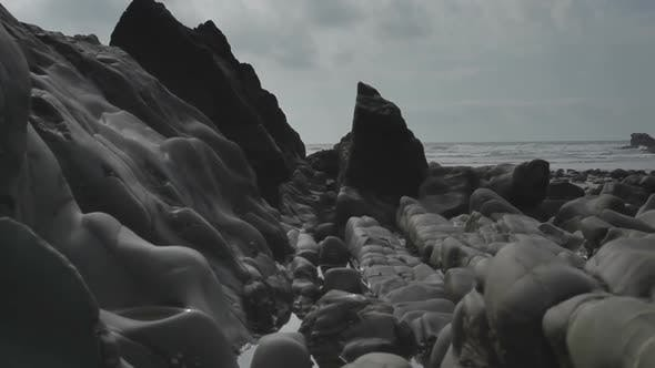 Thumbnail for Timelapse Of The Stunning And Dramatic Coastline At Bedruthan Steps On The Cornwall Coast, England