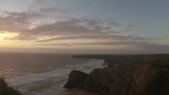 Thumbnail for Timelapse Of The Stunning And Dramatic Coastline In Cornwall Coast, England 1