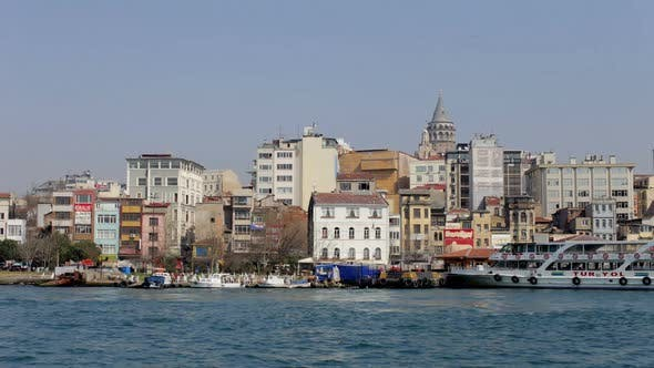 Thumbnail for Istanbul Skyline Galata Bosphorus Boats Turkey 3
