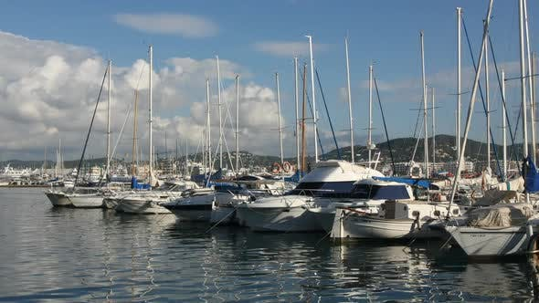 Thumbnail for Timelpase Shot Or Port In Ibiza Town, Spain 1