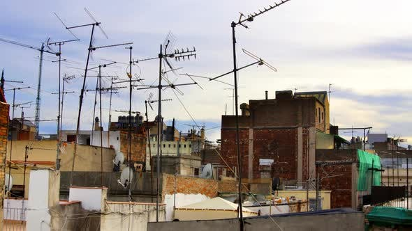 Thumbnail for Abstract Pattern Of Tv Aerials And Satellites On Rooftops 3