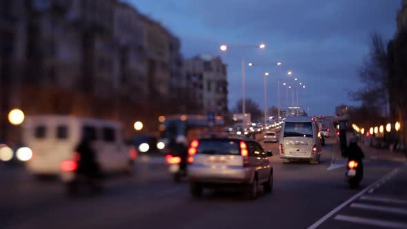 Thumbnail for Evening Traffic Shot From A Bridge In Barcelona Spain 3