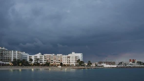 Thumbnail for The Beach Of Santa Eulalia At Sunset