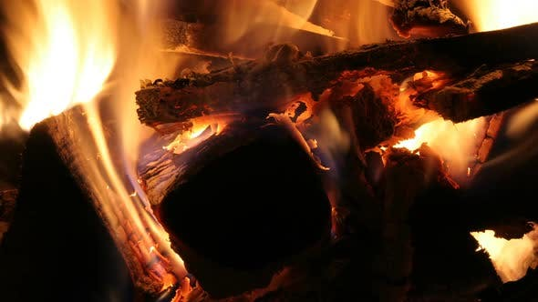 Thumbnail for Log Fire Wood Heat Light 5
