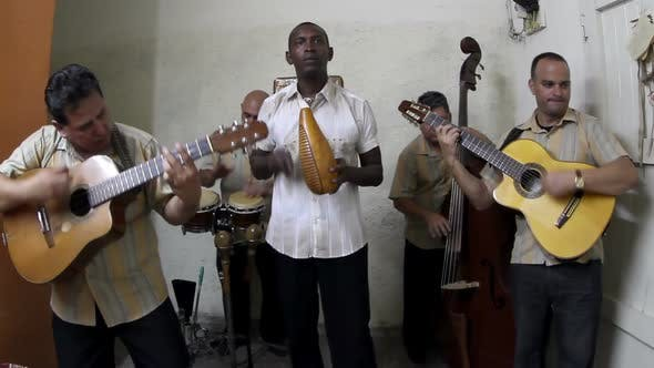 The Cuban Band Eco Caribe Filmed Performing In Havana. All Band Members Are Model Released. 4