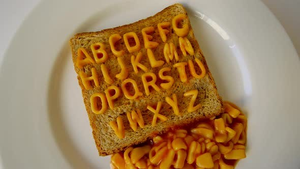 Thumbnail for Alphabet Stop Motion Animation With Spaghetti Letters On Toast 2