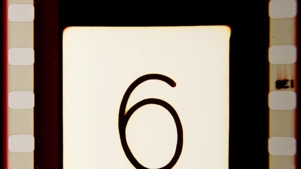 Universal Film/Academy Leader Countdown, Made Using 35mm Celluloid Film Strip. 3