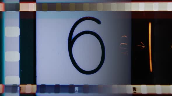 Universal Film/Academy Leader Countdown, Made Using 35mm Celluloid Film Strip. 5