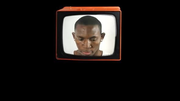 Thumbnail for Stop Motion Of A Fantastic Retro Orange Television 1