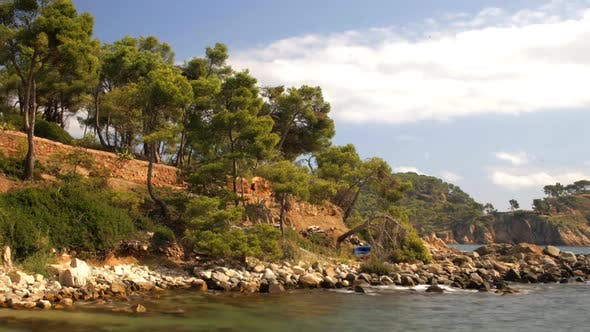 Thumbnail for Panning Timelapse In Late Afternoon, Across The Bay Of La Fosca, Costa Brava, Spain