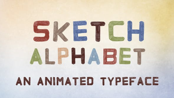 Thumbnail for Sketch Alphabet | After Effects Template
