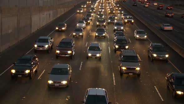 Thumbnail for Los Angeles Freeway Traffic - Clip 33