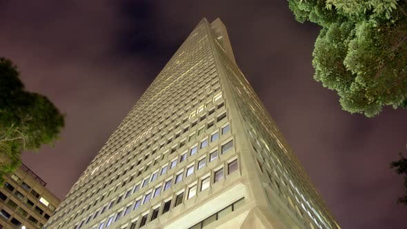 Thumbnail for The Transamerica Building At Night In San Francisco -  3