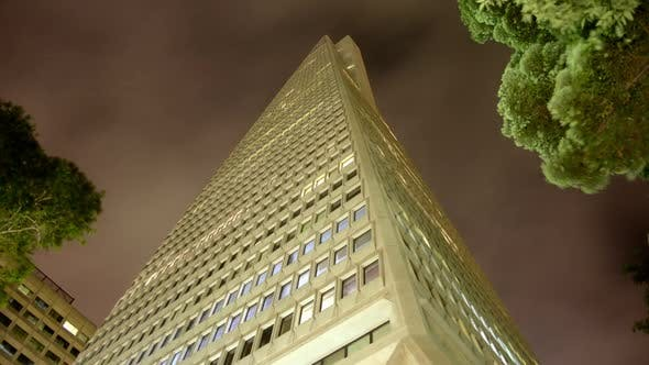 Thumbnail for The Transamerica Building At Night In San Francisco 3