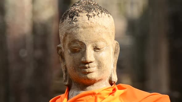 Thumbnail for Robed Buddha In Ancient Temple  - Angkor Wat Temple Cambodia 2