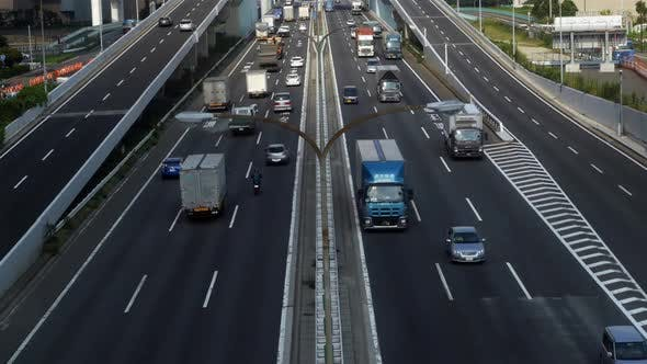 Thumbnail for Busy Truck Traffic On Japanese Highway - Tokyo Japan 9