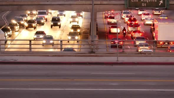 Thumbnail for Heavy Traffic In Downtown Los Angeles 1