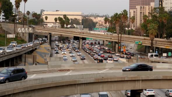 Thumbnail for Heavy Traffic In Downtown Los Angeles 4