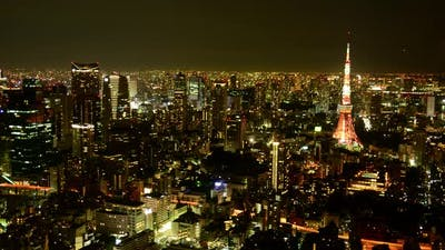 Tokyo Skyline At Night - Tokyo Japan