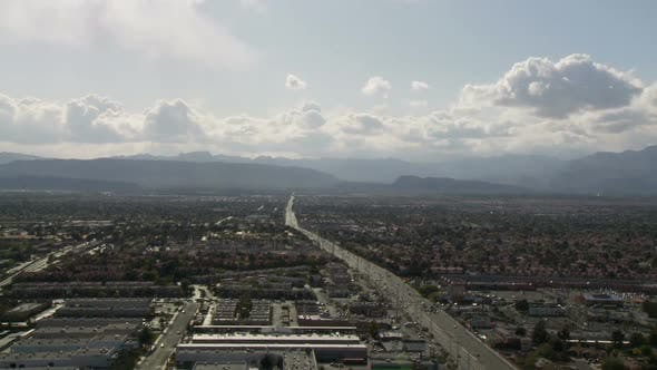 Thumbnail for Las Vegas Traffic From Above - Clip 5 (1)