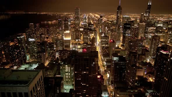 Cover Image for Chicago Skyline At Night
