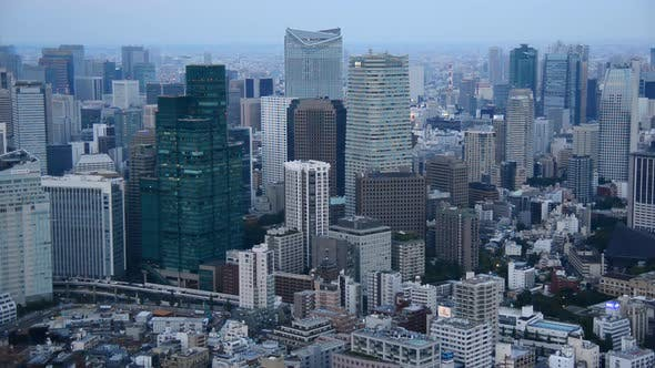 Thumbnail for View Of Tokyo Skyline From Roppongi Hills Tower - Tokyo Japan 2