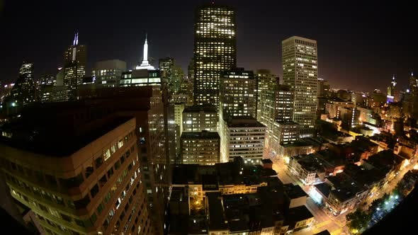 Thumbnail for Time Lapse San Francisco Skyline At Night 5