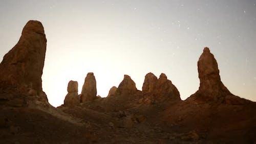 Sunrise At Tronas Pinnacles California Desert
