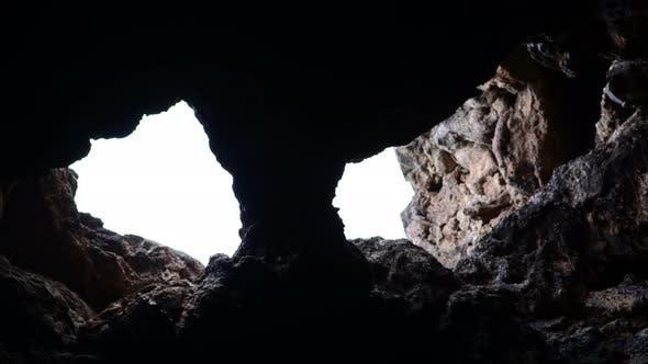 Thumbnail for Light Rays Shine Inside Of Lava Tube Cave