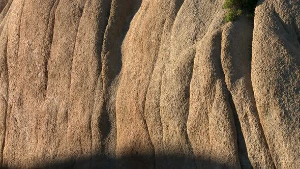 Desert Rocks  Sunset Shadows Creep Along Rocks - 1