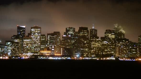 Thumbnail for The Foggy San Francisco Skyline At Night 10