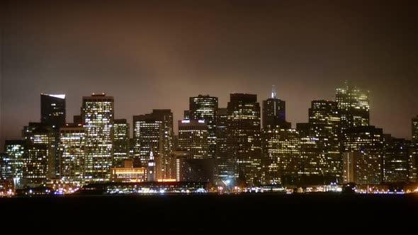 Thumbnail for The Foggy San Francisco Skyline At Night 12