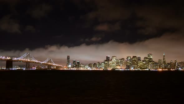 Thumbnail for The Foggy San Francisco Skyline At Night 13