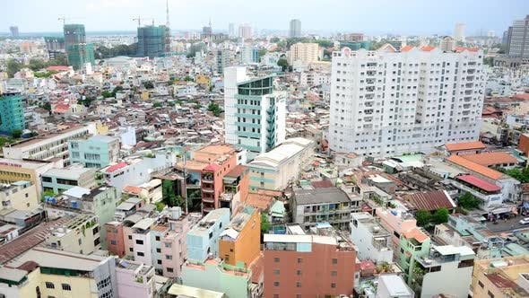 Thumbnail for Clouds And Shadows Passing Over Ho Chi Minh City (Saigon) 4