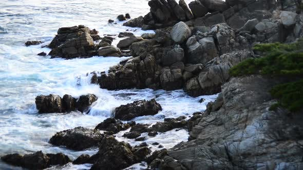 Thumbnail for Ocean Waves Crashing On Rocks - Big Sur 3