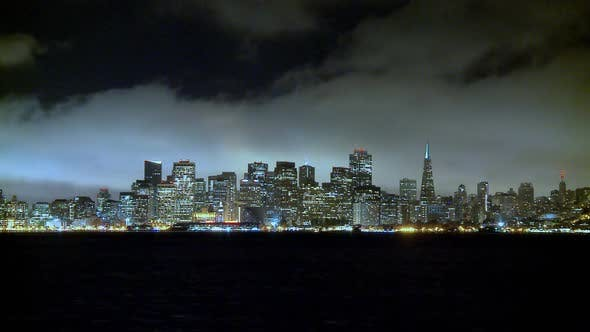 Thumbnail for The Foggy San Francisco Skyline At Night 4