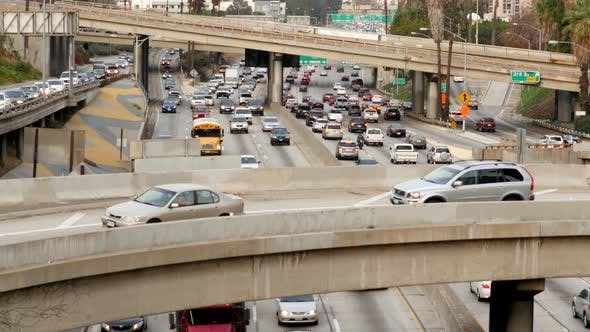 Thumbnail for Busy Freeway In Downtown Los Angeles California 21