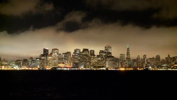Cover Image for The Foggy San Francisco Skyline At Night 5