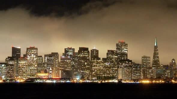 Thumbnail for The Foggy San Francisco Skyline At Night 7