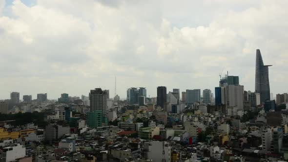 Cover Image for Clouds And Shadows Passing Over Ho Chi Minh City (Saigon) 9
