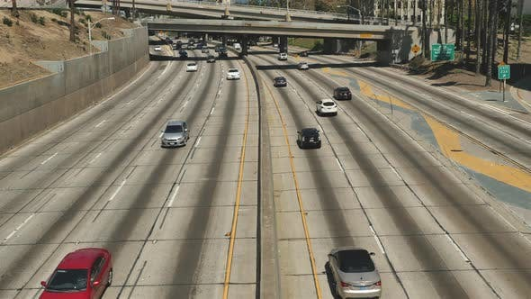 Thumbnail for Traffic On Busy 10 Freeway In Downtown Los Angeles California 12