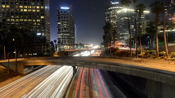 Thumbnail for Traffic In Downtown Los Angeles At Night - 1