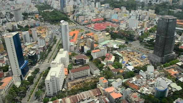 Thumbnail for Traffic In Ho Chi Minh City  Vietnam From Above